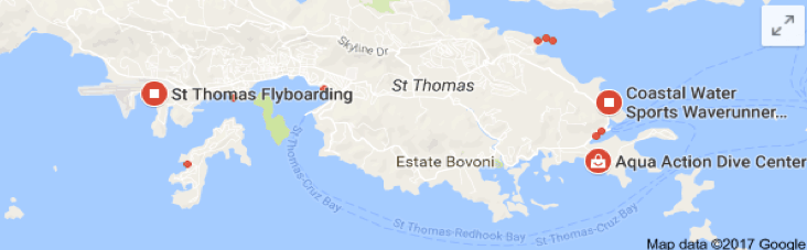 st thomas water activity sites